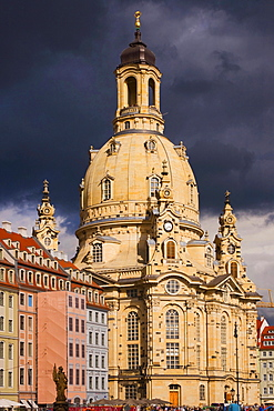 Church of Our Lady, architect George Baehr, Dresden, Saxony, Germany / Frauenkirche