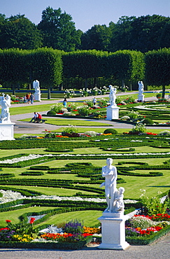 Sculptures in Baroque gardens of Herrenhausen, Hanover, Lower Saxony, Germany