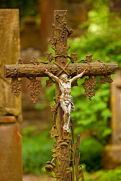 Crucifix, cemetery, Ecomusee, Ungersheim, Alsace, France / cross