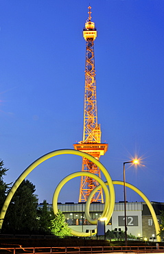 Radio Tower Berlin, Messe Berlin fairgrounds, Westend, Charlottenburg-Wilmersdorf, Berlin, Germany / Berliner Funkturm