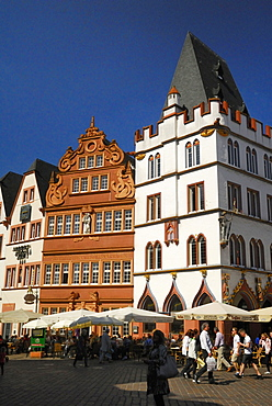 Steipe building and Red house, primary market, Trier, Germany, Rhineland-Palatinate, Hauptmarkt