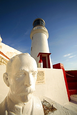 lighthouse at El Morro fortress near Santiago de Cuba, Cuba, Carribean