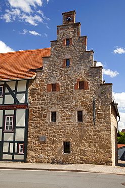 Spukhaus, haunted house, Gothic warehouse, Korbach, Waldecker Land region, Hesse, Germany