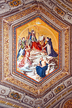 Ceiling painting, Holy Virgin Maria, pope, philosopher Aristoteles, Vatican museums, Rome, Latium, Lazio, Italy, Europe / Vatican museums
