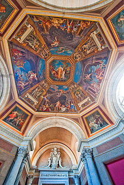 dome painting at Sala delle Muse, Vatican Museums, Vatican city, Rome, Latium, Lazio, Italy, Europe / Vatican
