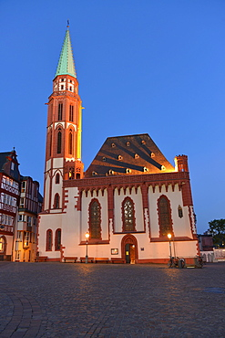 Nikolai church, Nikolaikirche, Romerberg, Frankfurt on the Main, Hesse, Germany / Römerberg