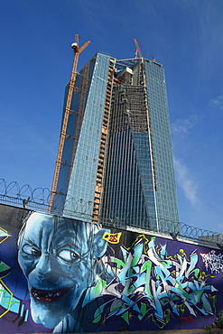New building of European Central Bank, ECB, Ostend, Frankfurt on the Main, Hesse, Germany