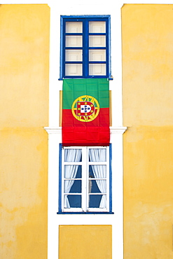 Typical colorful house facade, Aveiro, Beira, Portugal