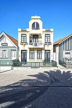 Palheiros, Typical colorful houses, Costa Nova, Aveiro, Beira, Portugal
