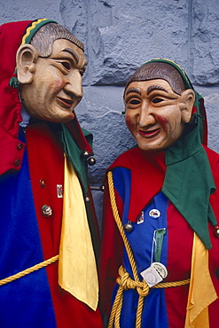 People with carnival masks, Stockach, Lake Constance, Baden-Wurttemberg, Germany