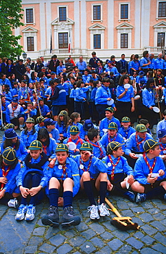 Group of scouts, Benevento, Campania, Italy
