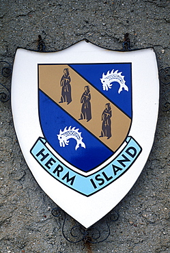 Coat of arms of Herm Island, Channel Islands, Great Britain