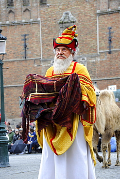 Man at Procession of the Holy Blood, Bruges, West-Flanders, Belgium