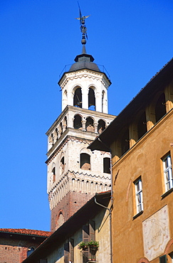 Tower of town hall, Saluzzo, Piemont, Italy