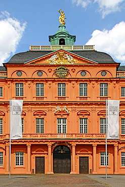 Castle, baroque style, built 1700 by Domenico Egidio Rossi, Rastatt, Baden-Wurttemberg, Germany