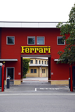 Ferrari Factory Entrance, Maranello, Emilia-Romagna, Italy, Europe