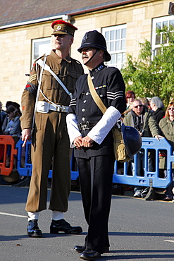 1940s Sergeant Major and Policeman, Pickering, North Yorkshire, Yorkshire, England, United Kingdom, Europe