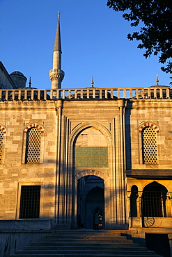 Blue Mosque (Sultan Ahmet Camii) entrance, Istanbul, Turkey, Europe
