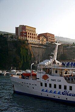 Pleasure boat in Harbour, Sorrento, Campania, Italy, Europe