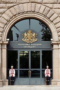 Guards of Honour outside Bulgarian Presidency, Sofia, Bulgaria, Europe