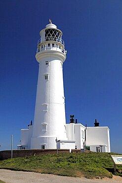 Flamborough Head Lighthouse, East Yorkshire, Yorkshire, England, United Kingdom, Europe
