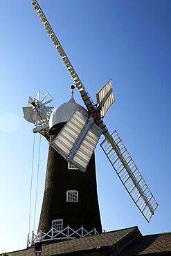 Black and White Windmill, East Yorkshire, Yorkshire, England, United Kingdom, Europe