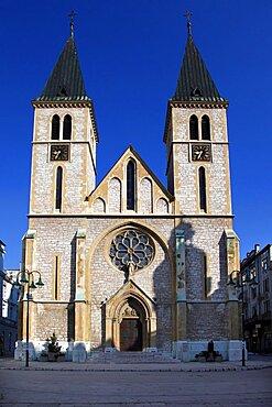 Jesus Sacred Heart Cathedral, Sarajevo, Bosnia and Herzegovina, Europe
