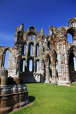 Whitby Abbey stonework, Whitby, North Yorkshire, Yorkshire, England, United Kingdom, Europe