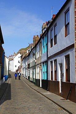 Henrietta Street, Whitby, North Yorkshire, Yorkshire, England, United Kingdom, Europe