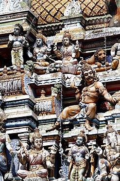 Figure on Hindu Temple, Matale, Sri Lanka, Asia