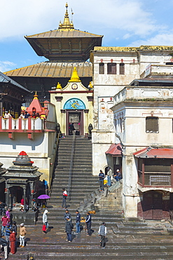 Pashupatinath Temple complex, UNESCO World Heritage Site, Kathmandu, Nepal, Asia