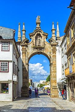Porta Nova Arch, Braga, Minho, Portugal, Europe