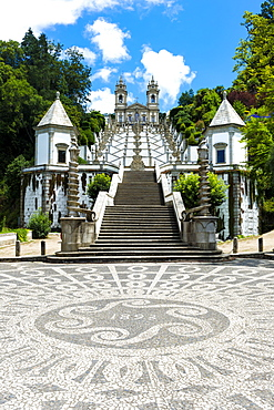 Santuario do Bom Jesus do Monte (Good Jesus of the Mount Sanctuary), Staircase of the Five Senses, UNESCO World Heritage Site, Tenoes, Braga, Minho, Portugal, Europe