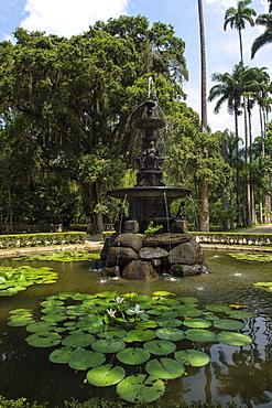 Fountain of the Muses, Rio de Janeiro Botanical Gardens, Rio de Janeiro, Brazil, South America
