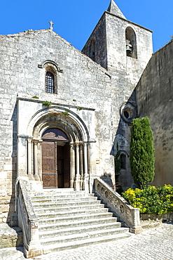 Saint Vincent Church, Medieval village of Les Baux de Provence, Bouches du Rhone, Provence Alpes Cote d'Azur region, France, Europe