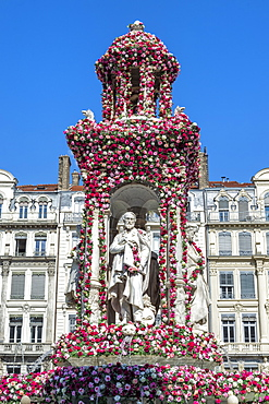 Jacobins Square during the 17th World Convention of Rose Societies in 2015, Lyon, Rhone, France, Europe