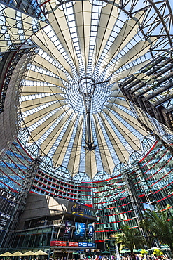 Roof of the Sony Center near Potsdamer Platz, Berlin, Brandenburg, Germany, Europe