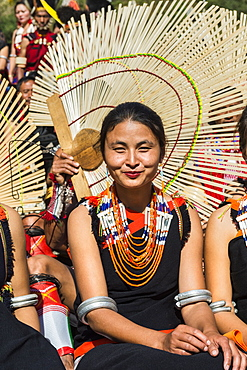 Tribes woman at the Hornbill Festival, Kohima, Nagaland, India, Asia