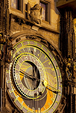 Astronomical Clock on the Town Hall, Old Town Square, UNESCO World Heritage Site, Prague, Czech Republic, Europe