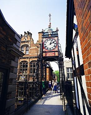 Eastgate Clock, Chester, Cheshire, England, United Kingdom, Europe