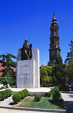 Francisco Goya Monument, Zaragoza, Aragon, Spain