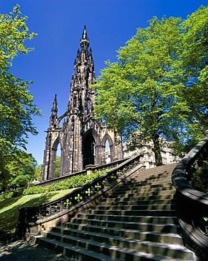 Scott monument, Edinburgh, Lothian, Scotland, United Kingdom, Europe