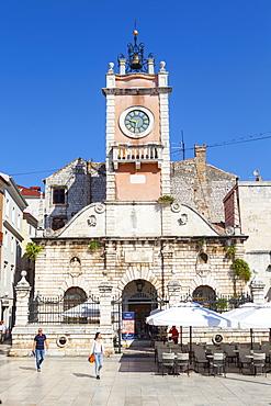 Town hall, Narodni trg (People's Square), Zadar, Dalmatia, Croatia, Europe