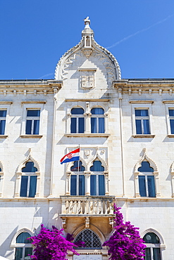 The picturesque Lucic Palace in Trogir's Stari Grad, Trogir, Dalmatia, Croatia, Europe - 1158-441