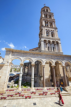 St. Domnius Cathedral Bell Tower and Peristyle, Stari Grad (Old Town), Split, Dalmatia, Croatia, Europe - 1158-466