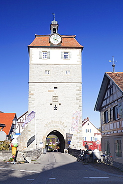 Torturm tower, old town, Vellberg, Hohenlohe Region, Baden Wurttemberg, Germany, Europe