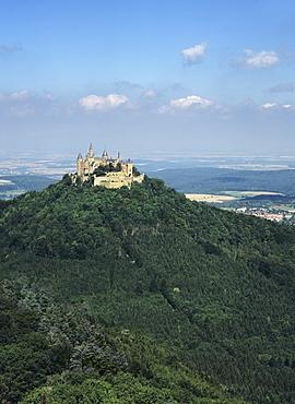 Hohenzollern Castle, Hechingen, Swabian Alb, Baden Wurttemberg, Germany, Europe