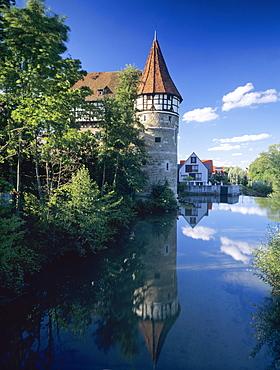 Zollernschloss Castle, Balingen, Swabian Alb, Baden Wurttemberg, Germany, Europe
