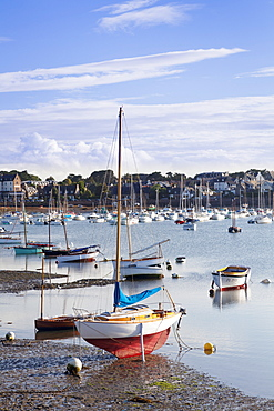 Port of Ploumanach, Cote de Granit Rose, Cotes d'Armor,  Brittany, France, Europe