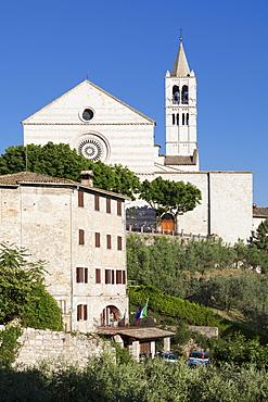 Santa Chiara Basilica, Assisi, Perugia District, Umbria, Italy, Europe